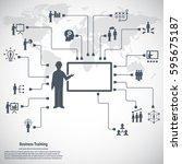 business training    Shutterstock .eps vector #595675187