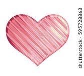 soft pink striped line glass... | Shutterstock . vector #595728863