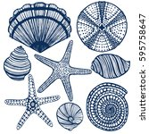 Vector Hand Drawn Maritime Set...
