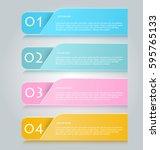 business infographics tabs... | Shutterstock .eps vector #595765133