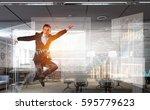 he is got the deal . mixed... | Shutterstock . vector #595779623