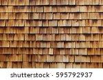 abstract wooden texture of... | Shutterstock . vector #595792937