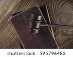 vintage law concept top view