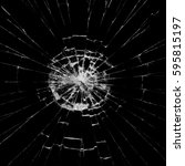 broken glass on black... | Shutterstock . vector #595815197