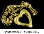 heart necklace for women  ... | Shutterstock . vector #595816517