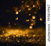 glitter lights grunge... | Shutterstock . vector #595819967