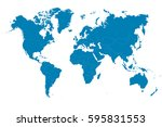 blue world map on white... | Shutterstock .eps vector #595831553