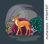 Deer Cartoon Vector...