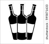 bottles of wine icon stock | Shutterstock .eps vector #595871633