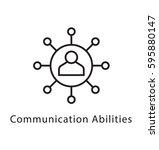 communication abilities vector... | Shutterstock .eps vector #595880147