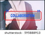 """hand and text  """"collaboration""""... 