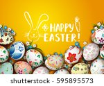template vector card with... | Shutterstock .eps vector #595895573