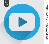 video flat icon. simple sign of ...