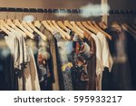 clothing boutique | Shutterstock . vector #595933217