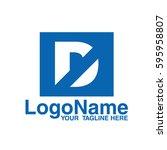 d logo   Shutterstock .eps vector #595958807