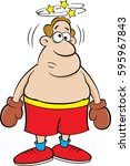 cartoon illustration of a dizzy ... | Shutterstock .eps vector #595967843