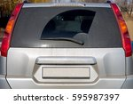 dirty car view of glass of a...   Shutterstock . vector #595987397