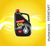 canister engine oil design... | Shutterstock .eps vector #595987697