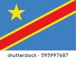 democratic republic of the... | Shutterstock .eps vector #595997687