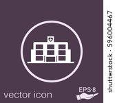 hospital building. medical...   Shutterstock .eps vector #596004467