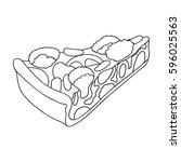vegetarian vegetable pie.pie of ... | Shutterstock .eps vector #596025563