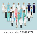 medical team. group doctors ... | Shutterstock .eps vector #596025677