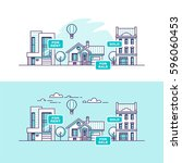 real estate business concept... | Shutterstock .eps vector #596060453