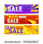 big sale for website banner.... | Shutterstock .eps vector #596060867