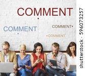 chat message speech bubble... | Shutterstock . vector #596073257