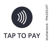 tap to pay concept   vector...   Shutterstock .eps vector #596102147