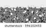 illustration of massive crowd... | Shutterstock .eps vector #596102453