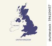 uk map | Shutterstock .eps vector #596104457