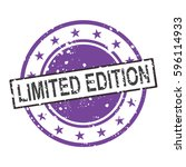 limited edition vector stamp... | Shutterstock .eps vector #596114933