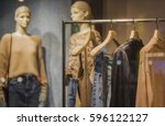 women clothing shop | Shutterstock . vector #596122127