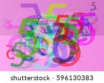 number 5 template idea | Shutterstock .eps vector #596130383