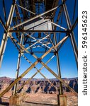 Small photo of Abandoned cable aerial tramway of mine at Guano Point - Grand Canyon West Rim, Arizona, USA