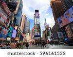 new york city usa   february 3  ... | Shutterstock . vector #596161523