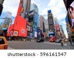 new york city usa   february 3  ... | Shutterstock . vector #596161547