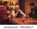 group of upper class men... | Shutterstock . vector #596168117