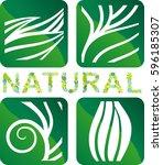 abstract natural symbols | Shutterstock .eps vector #596185307