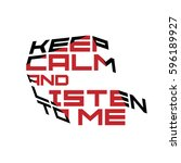 keep calm motivation quote red... | Shutterstock .eps vector #596189927