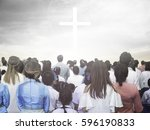 blurred christian | Shutterstock . vector #596190833
