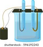 water electrolysis process  ... | Shutterstock .eps vector #596192243