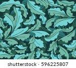 leaf pattern scene vector... | Shutterstock .eps vector #596225807