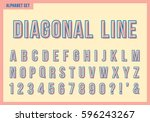 diagonal line alphabet letters... | Shutterstock .eps vector #596243267
