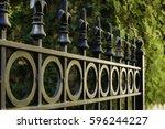 Top Of Ironwork Gate To Garden...