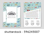 abstract vector layout... | Shutterstock .eps vector #596245007