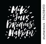 make your dreams happen.... | Shutterstock .eps vector #596258453