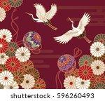 cranes  handball and... | Shutterstock .eps vector #596260493