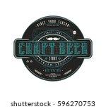 craft beer label template in... | Shutterstock .eps vector #596270753